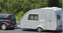 Picture of Car & Towing Caravan, Return